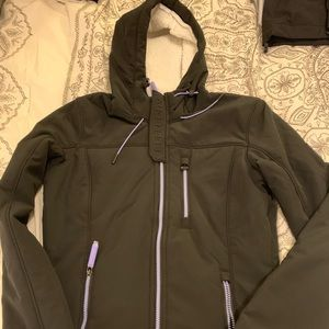 Superdry Black Jacket Women's Size 6 Medium